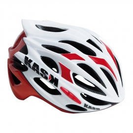 Casque mojito Kask blanc rouge