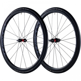 Paire de roues vélo route à pneus Black Inc 30mm shimano