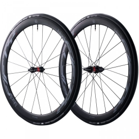 Paire de roues vélo route à pneus Black Inc 50mm shimano
