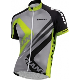 Maillot manches courtes Giant Triangle gris jaune