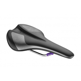 Selle velo femme Liv contact upright noir gris