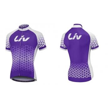 Maillot vélo femme manches courtes Beliv violet LIV