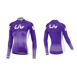 Maillot vélo femme manches longues Beliv violet LIV