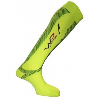 Chaussette compression haute WeRun jaune