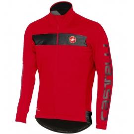 Veste vélo hiver Castelli Raddoppia rouge