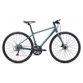 Vélo femme route fitness LIV Thrive 3 gris vert