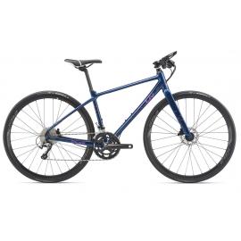 Vélo femme route fitness LIV Thrive 1 disc bleu