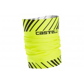 Tour de cou Castelli thermal jaune fluo noir