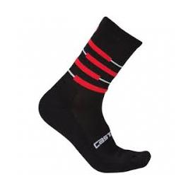 Chaussettes Castelli Gregge noir et rouge