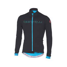 Maillot manches longues Castelli Fondo anthracite bleu